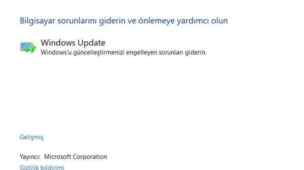 Windows Update Çalışmıyor Sorununu Çözme Yöntemleri