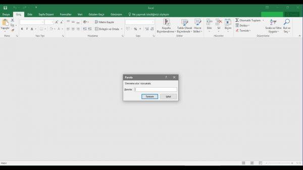Microsoft Excel Dosyasına Şifre Koyma Yöntemleri